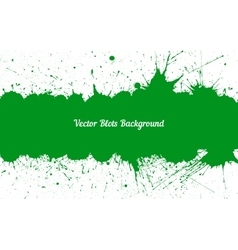 green ink splashes with space for text over vector image