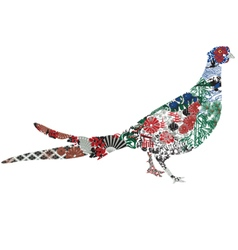 Green Pheasant Japanese miniatures vector