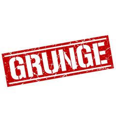 Grunge square grunge stamp vector