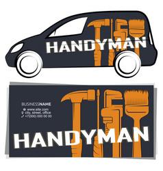 Handyman design for business vector