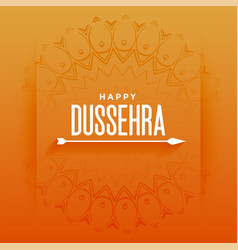 Happy dussehra festival card with arrow design vector