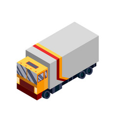 isometric logistics transportation vector image