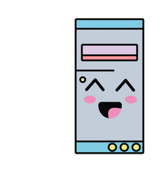 Kawaii cute happy hard drive vector