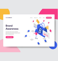 Landing page template of brand awareness concept vector