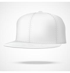 Layout male white rap cap vector