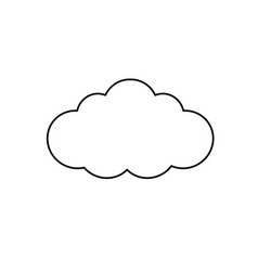 Line natural cloud design to fresh weather vector