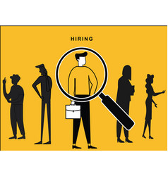 male hired with lens focus vector image