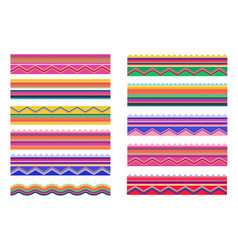 mexican traditional banners brushes and frame vector image