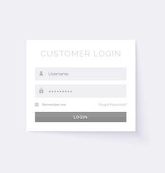 Minimal white login form design template vector
