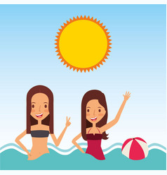 Person on vacations holidays vector