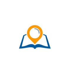 pin book logo icon design vector image