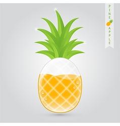 Pineapple fruit juice vector