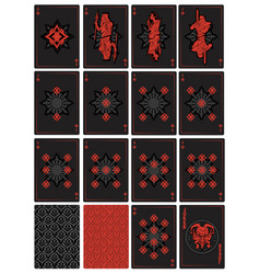 Playing cards fantasy vector
