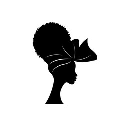 portrait african woman in traditional turban vector image
