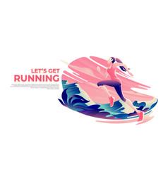 Running theme art vector