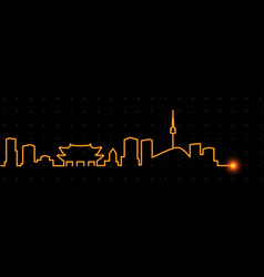 Seoul light streak skyline vector