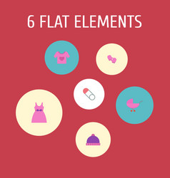 set of baby icons flat style symbols with baby vector image