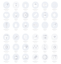 Set of flat Medical icons line icons style vector image