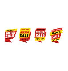 sets mega sale banner simple vector image
