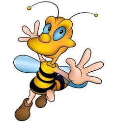 Smiling Honey Bee vector image