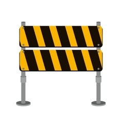 street traffic barrier icon design vector image