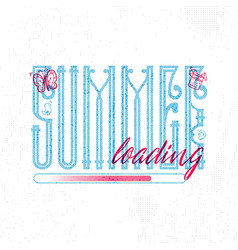 summer loading retro sign badge banner template vector image