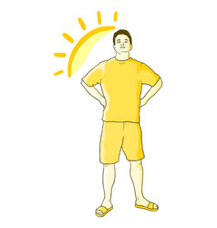 sun boy vector image