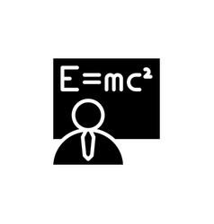 Teacher icon isolated eps10 vector
