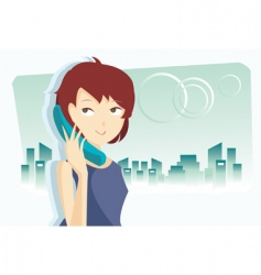 telephone wave vector image