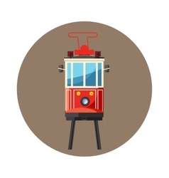 Traditional turkish public tram icon cartoon style vector