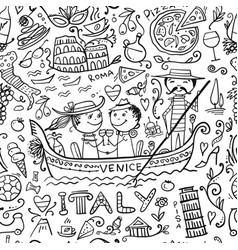 travel to italy seamless pattern for your design vector image