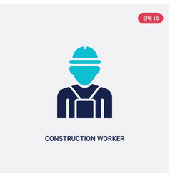 two color construction worker icon from humans vector image