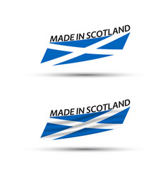 two modern colored scottish flags vector image