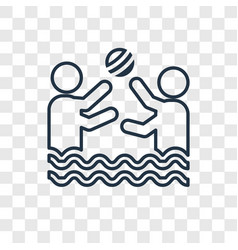 water polo concept linear icon isolated on vector image
