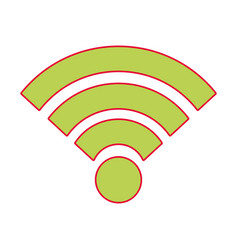 wifi internet connection signal wave vector image