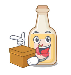 with box apple cider isolated with mascot vector image