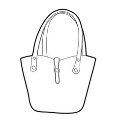 Women bag icon outline vector