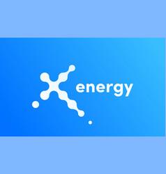 X energy technology sport icon vector