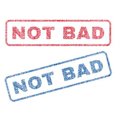 not bad textile stamps vector image vector image