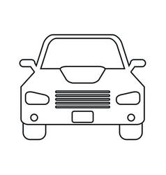 car sedan vehicle transport icon linear vector image