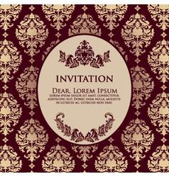 Damask Filigree Invitation Card vector image