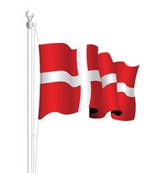 denmark flag vector image vector image