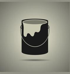 paint bucket icon flat style vector image