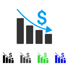 recession flat icon vector image vector image