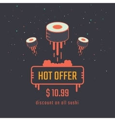 Sushi creative poster vector image