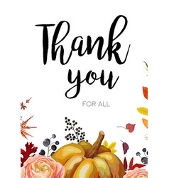 thank you greeting card postcard design with vector image