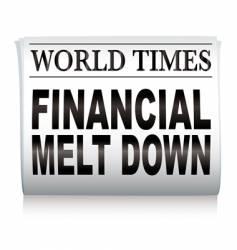 newspaper financial vector image vector image