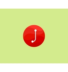 Abstract letter J logo design template Dot line vector image vector image