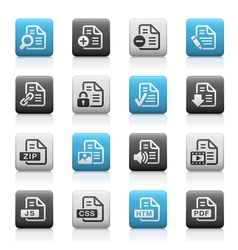 Documents icons 1 Matte Series vector image vector image