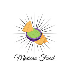 emblem of mexican food with nachos vector image